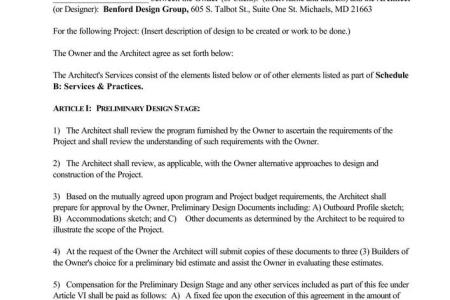 basic interior designer contract template pdf download 1