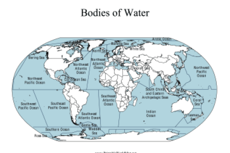 Bodies Of Water Identify And Locate Major Bodies Of Water In The - Bodies of water map us