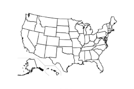 gallery for > blank us map printable