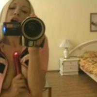 Blondie sends her man a masturbation video