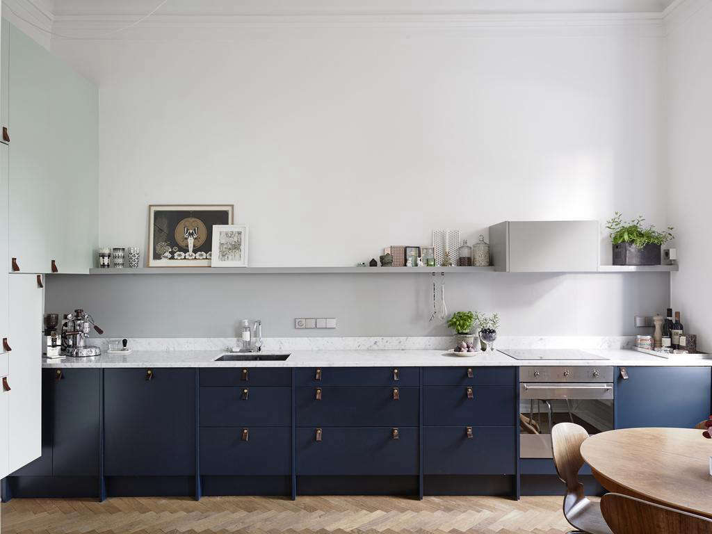 Fabulous Blue Painted Cabinets Lear Cabinetpulls Featured On Swedish Trend Cult Black Granite Sweden Blue S Remodelista Blue Kitchen Cabinets What Color Walls Blue Kitchen Cabinets A Kitchen houzz-02 Blue Kitchen Cabinets
