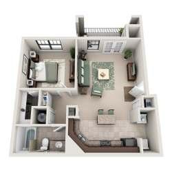 Small Crop Of One Bedroom Apartment Floor Plans