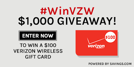 Savings.com Giveaway: $1,000 In Verizon Gift Cards | TotallyTarget.com