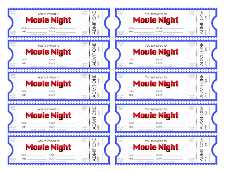 Download And Print Our Movie Ticket Template To Make Your Movie Night ...
