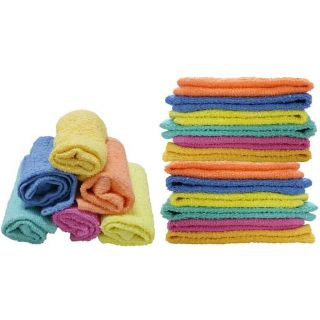 Pack of 12 Face Towels Solid