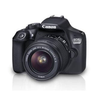 Canon EOS 1300D Kit (EF S18-55 IS II) DSLR Camera with 16 GB card,Carry case and 2 years Canon India Warranty