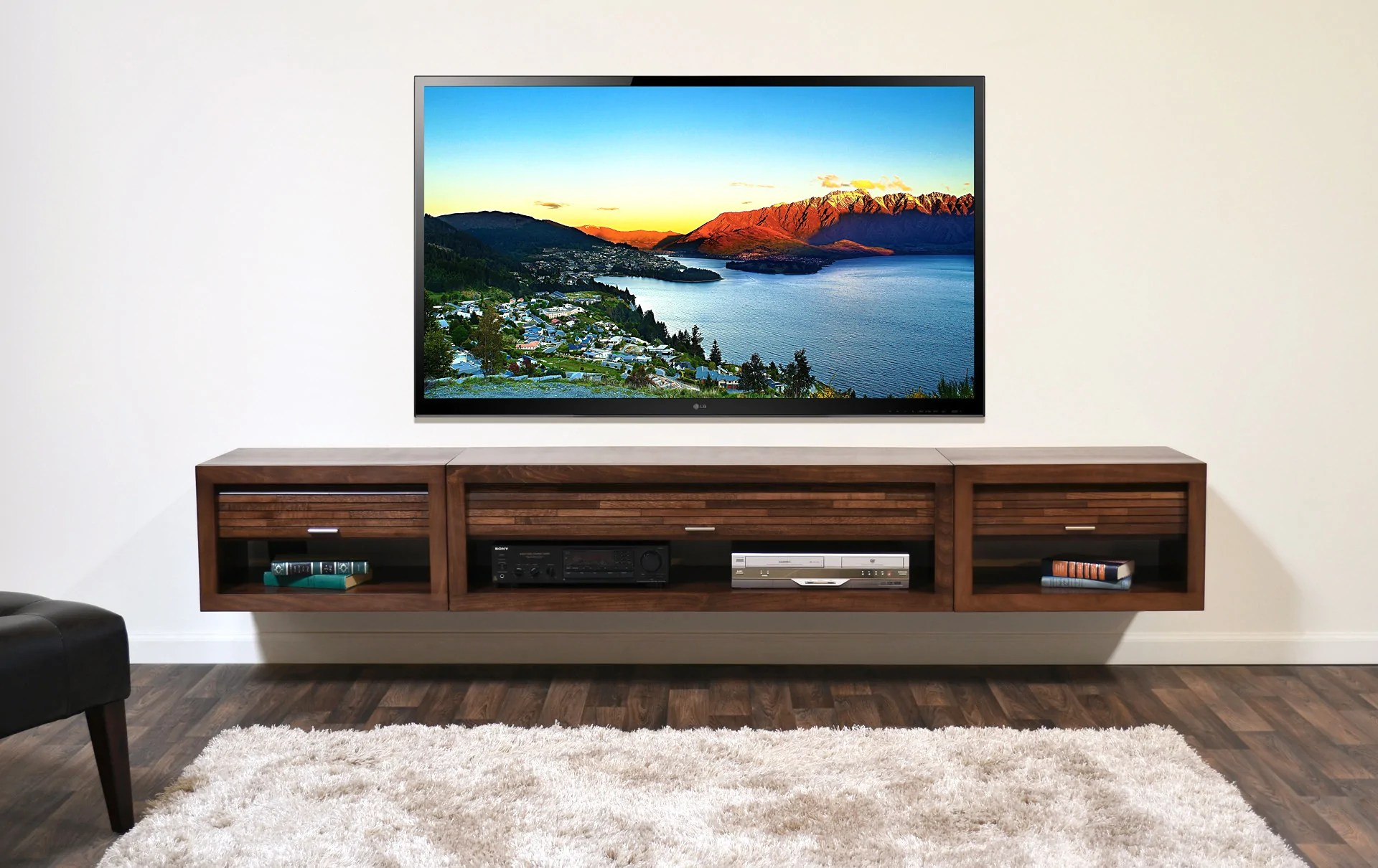 Famed Sale Wall Entertainment Center Wall Mounted Floating Tv Stand Entertainment Center Eco Geo Mocha Floating Tv Stand Entertainment Center Eco Geo Espresso Woodwaves Wall Entertainment Centers houzz-02 Wall Entertainment Center