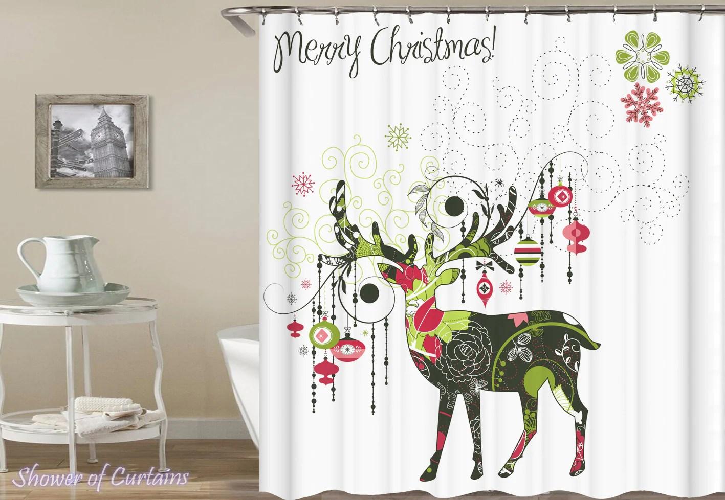 Luxurious Canada Shower Curtains Hooks Shower Curtains S Shower Curtains Merry Decorative Reindeer Shower Curtains Merry Decorative Reindeer Shower houzz-03 Christmas Shower Curtains