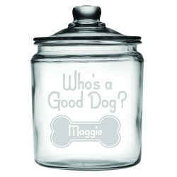 Dazzling A Good Dog Personalized Half Gallon Dog Treat Jar A Good Dog Personalized Half Gallon Dog Treat Jar Puplife Dog Treat Jar Canada Dog Treat Jars Wholesale