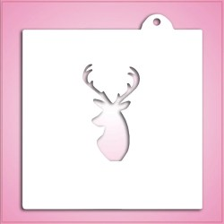Small Crop Of Deer Head Stencil