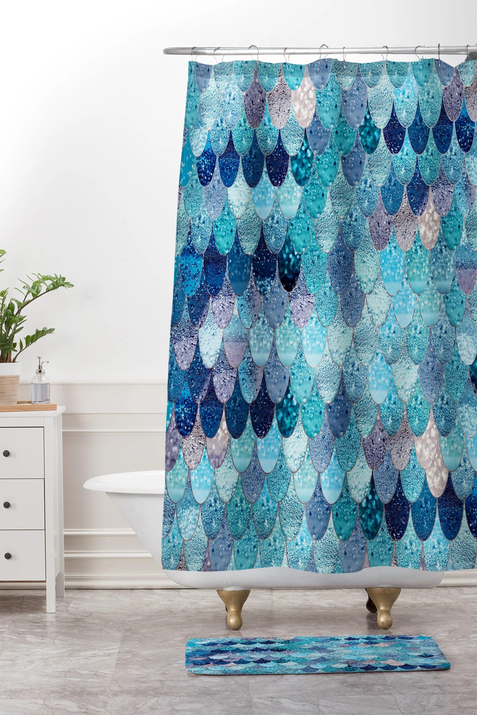 Horrible Shower Curtain Mat V1 6fc3b4a9 E978 4204 939b 44c743070800 Ombre Shower Curtain Shower Curtain Canada Monika Strigel Summer Mermaid Blue houzz 01 Teal Shower Curtain