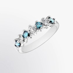 Small Crop Of Blue Diamond Ring