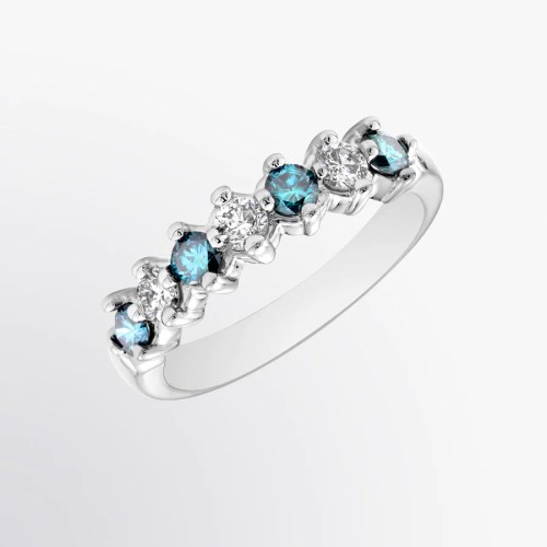 Medium Crop Of Blue Diamond Ring