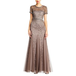 Beautiful Lead Adrianna Papell Cap Sleeve Beaded Gown Taylor Adrianna Papell Dress Sequin Adrianna Papell Cap Sleeve Beaded Gown Lead Bridesmaid Dress Adrianna Papell Dresses Lord wedding dress Adrianna Papell Dress