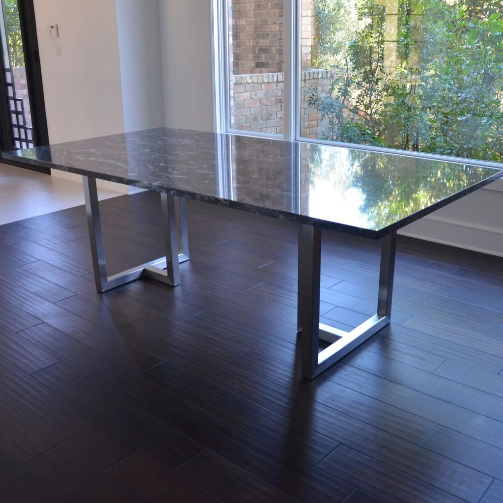 intersect dining table with granite top granite top kitchen table Intersect Dining Table with Granite Top