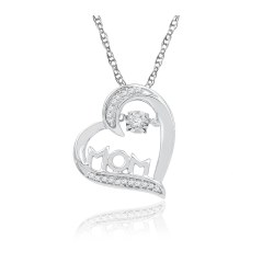 Small Crop Of Diamond Heart Necklace