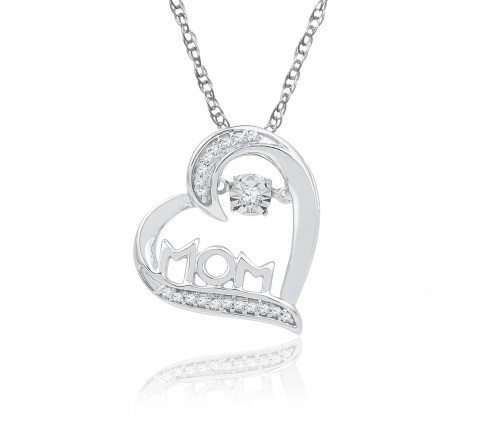 Medium Of Diamond Heart Necklace