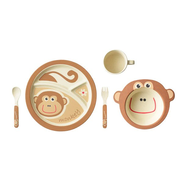 Bamboo Kids 5 Piece Monkey Set