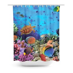 Small Of Coral Shower Curtain