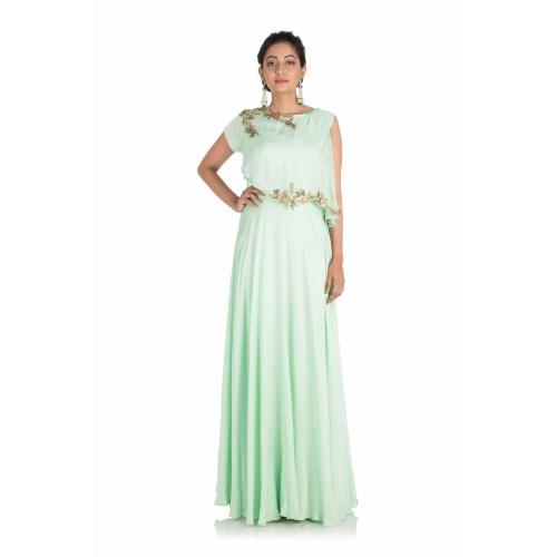 Medium Crop Of Light Green Dress