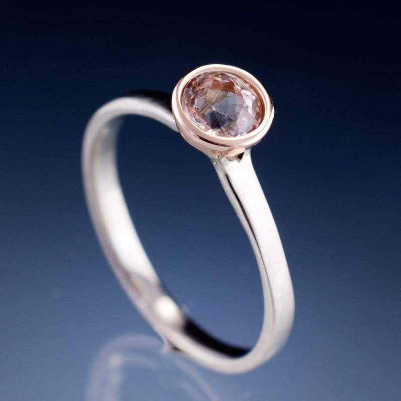 Large Of Morganite Rose Gold Ring