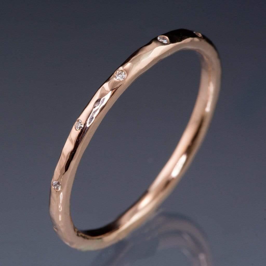 wedding bands fdid article diamond wedding band Wedding Band with Diamonds in 10ct Rose Gold