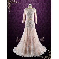 Small Crop Of Drop Waist Wedding Dress