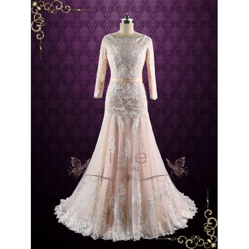 Medium Crop Of Drop Waist Wedding Dress
