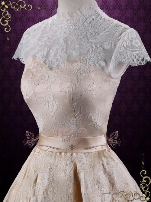 Medium Of Short Lace Wedding Dress