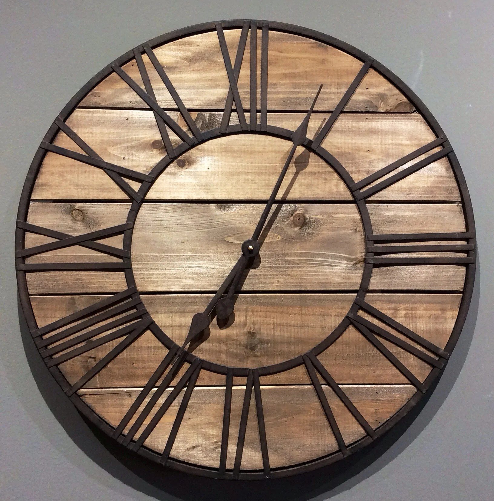 Sightly Clock Round Wood Metal Roman Numeral Clock Clock Round Wood Metal Roman Numeral Clock Red Barn Roman Numeral Clock Decals Roman Numeral Clock Vector houzz-03 Roman Numeral Clock