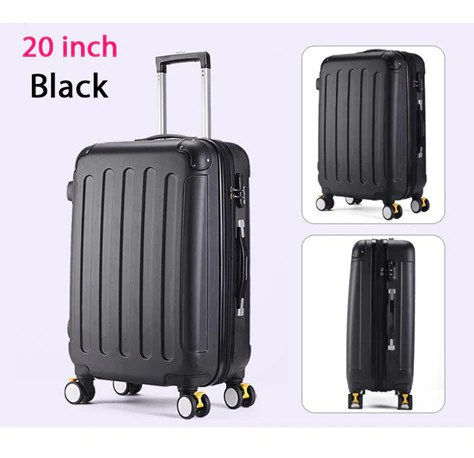 652a097266de 24 Inches Women Suitcase For Travel Bags On Wheels Trolley Case Abs