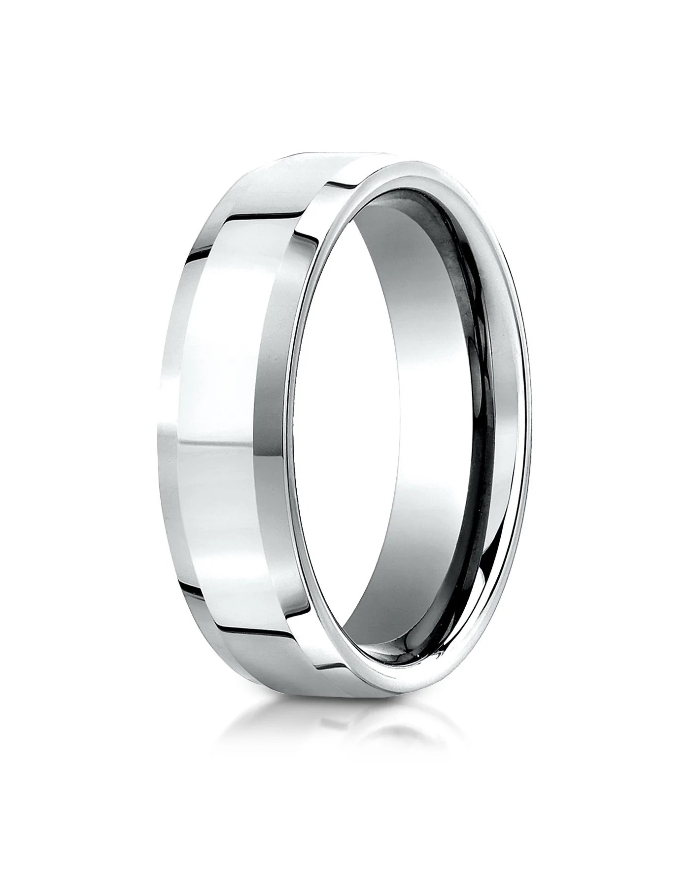 paris 10k mens white gold polished wedding band by benchmark white gold wedding band PARIS 10k Men s White Gold Polished Wedding Band by Benchmark