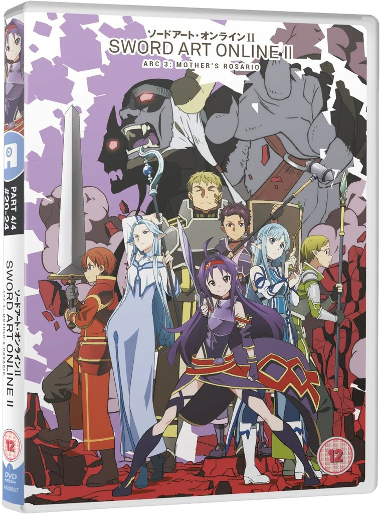 Sword Art Online II  Part 4   DVD     alltheanime Sword Art Online II  Part 4   DVD