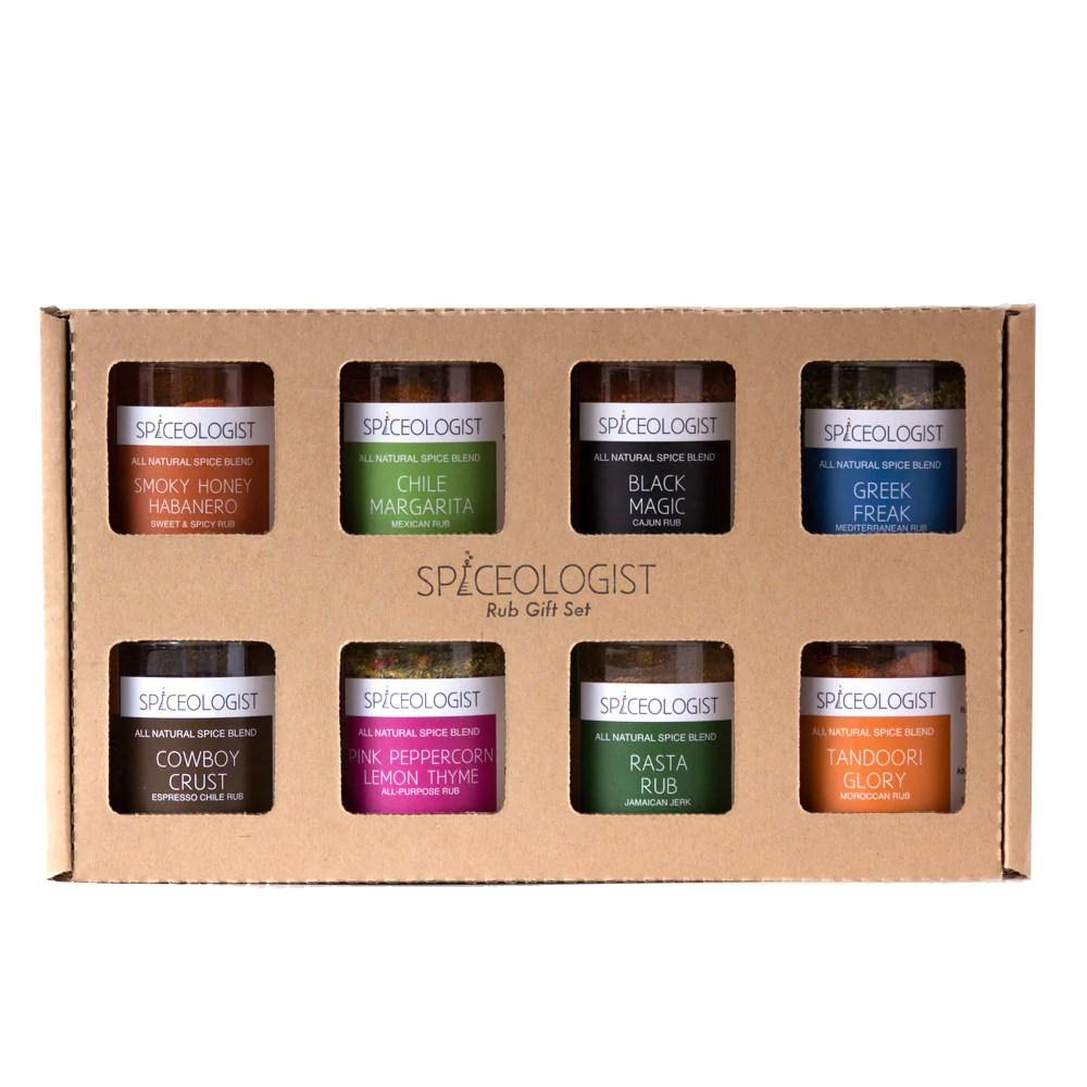 Spiceologist 8 Pack Rub Gift Set | farmgirlgourmet.com