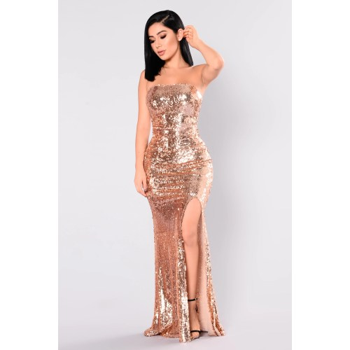 Medium Crop Of Rose Gold Dress