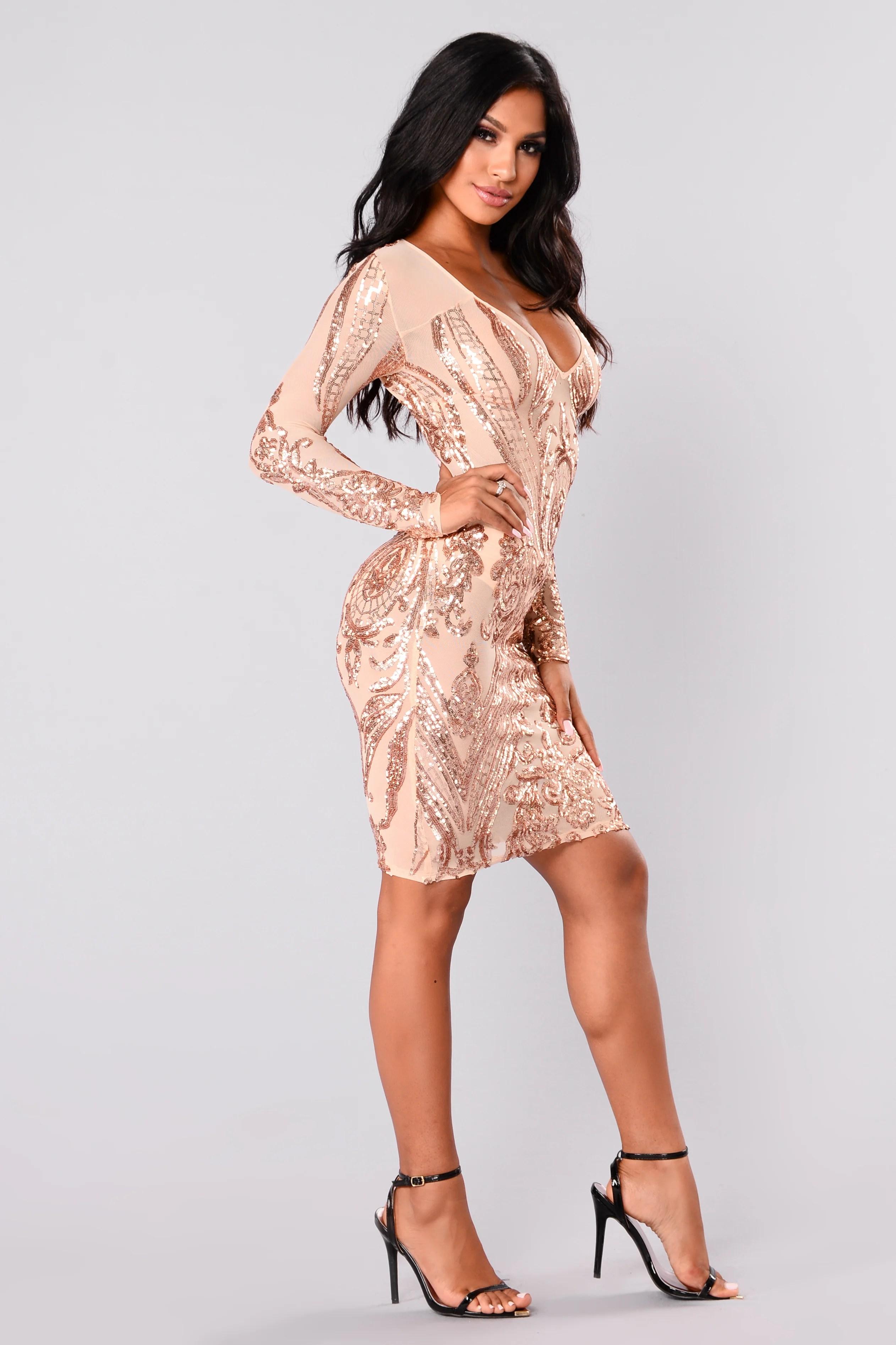 Fullsize Of Rose Gold Sequin Dress