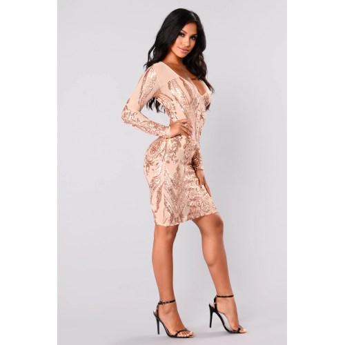 Medium Crop Of Rose Gold Sequin Dress
