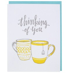 Assorted You Card Teatime Thinking You Cards Printable Thinking You Card Thinking Teatime Thinking You Cards Smudge Ink Thinking You Cards Diy