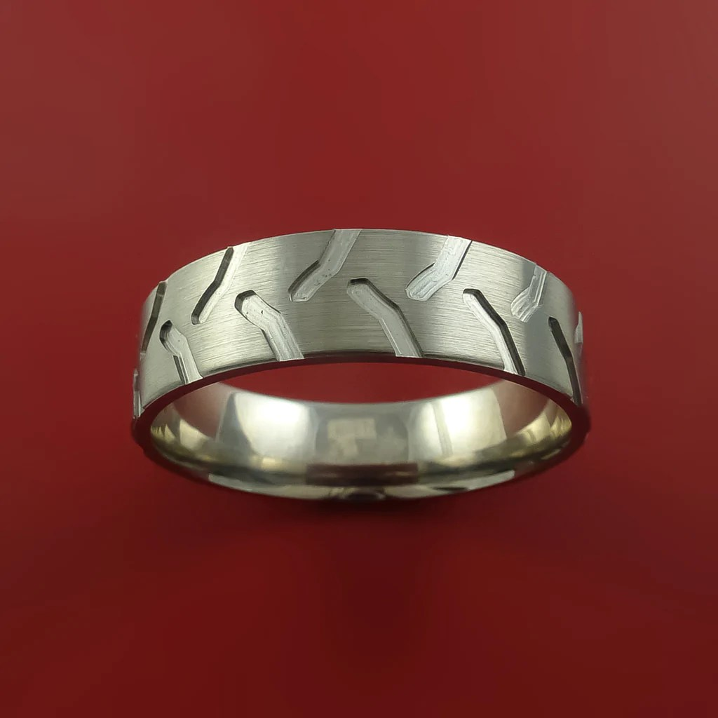 titanium tractor tire tread carved design ring bold unique band custom made to any sizing 4 22 tire tread wedding band Titanium Tractor Tire Tread Carved Design Ring Bold Unique Band Custom Made to Any Sizing 4