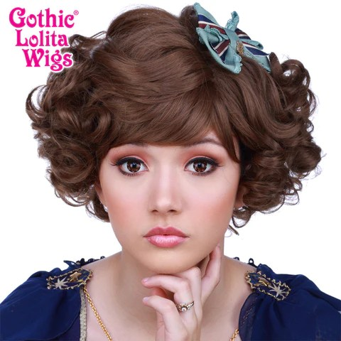 Gothic Lolita Wigs     Curly Bob         Brown Mix  00499     Dolluxe