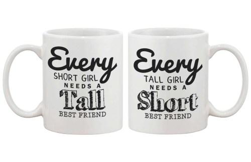 Seemly Bff Matching Coffee Bff Matching Coffee Every Short Girl Needs A Tall Tall Coffee Mugs Tall Coffee Mugs Bulk