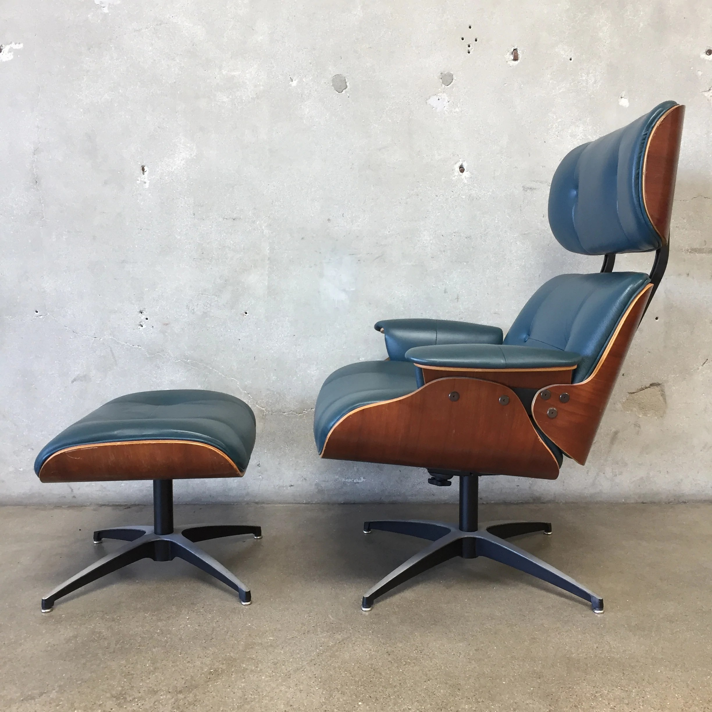 Fullsize Of Eames Style Chair And Ottoman