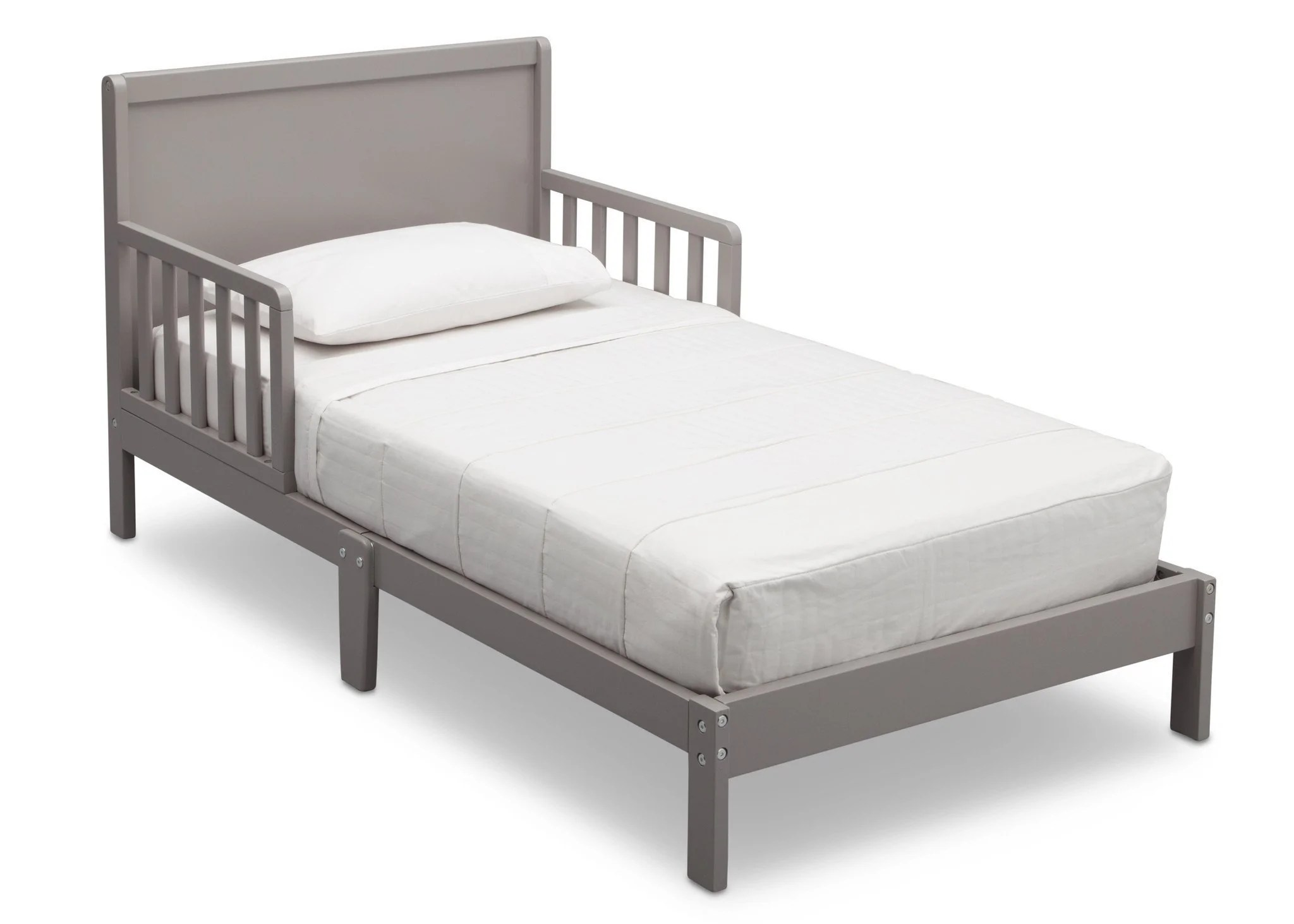 Calm 540640 026 Delta Fabio Toddler Bed Grey Angle C3486d6f Fba1 4a61 9193 35586078182f Toddler Bed Mattress Near Me Toddler Bed Mattress Size Chart baby Toddler Bed Mattress