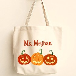 Relieving Sale At Exclusively By Personalized Teacher Gifts Cheap Personalized Teacher Gifts Personalized Halloween Canvas Tote Personalized Teacher Gifts
