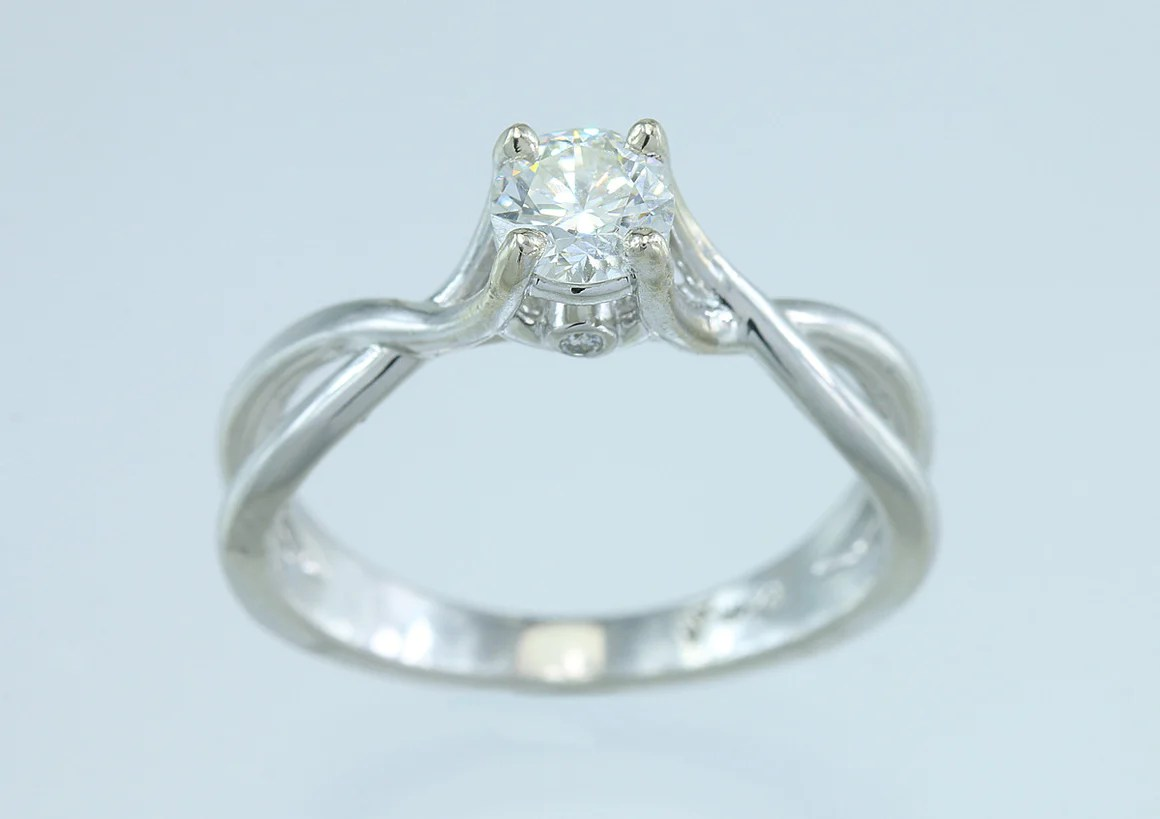 engagement rings build a wedding ring 50ct Diamond 14kt White Gold Solitaire
