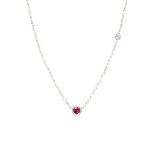 Medium Of Floating Diamond Necklace