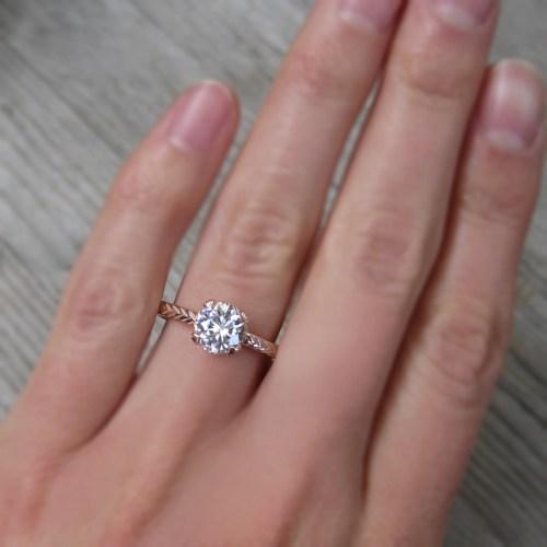 Medium Crop Of Lab Created Diamond Rings