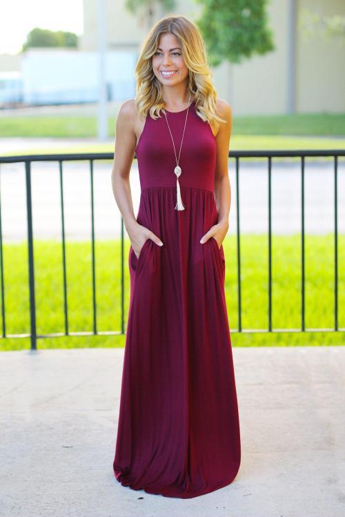 Medium Of Burgundy Maxi Dress