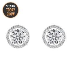 White Ariel G Halo Stud Earrings Ariel G Stud Earrings Jewelry Cate Chloe G Earrings At Walmart G Earrings Girls