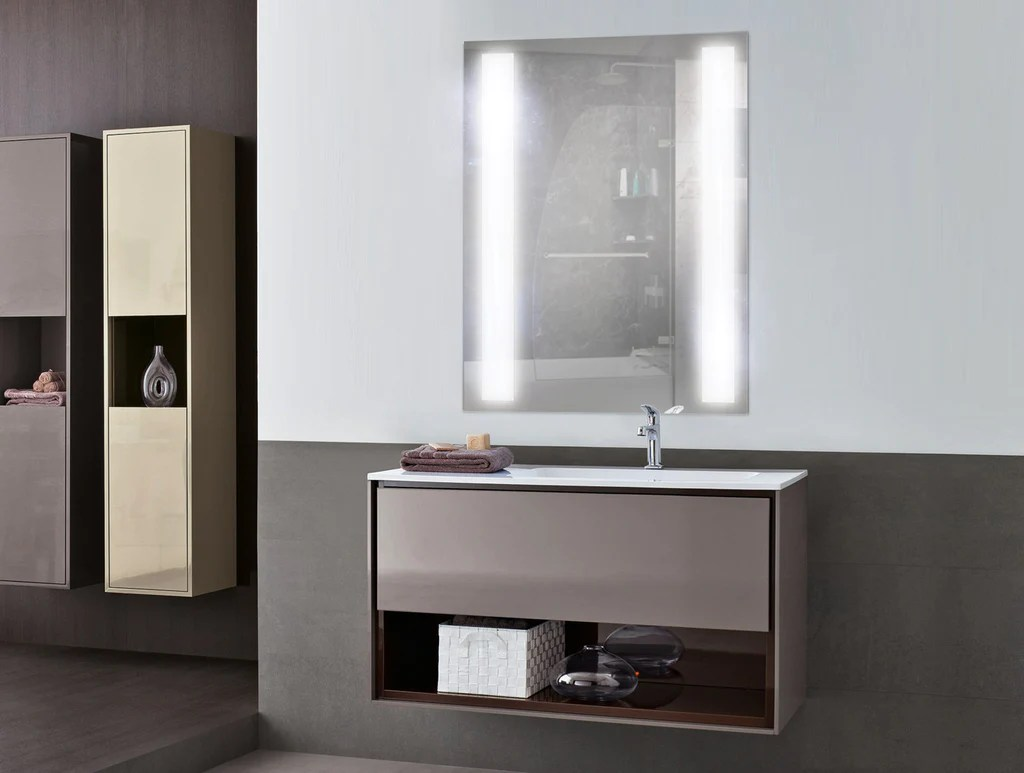 Fullsize Of Lighted Bathroom Mirror